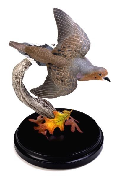 Loon Lake Decoy Company Miniature Flying Mourning Dove